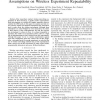 RF in the Jungle: Effect of Environment Assumptions on Wireless Experiment Repeatability