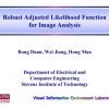 Robust Adjusted Likelihood Function for Image Analysis