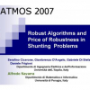 Robust Algorithms and Price of Robustness in Shunting Problems