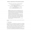 Robust Computations with Dynamical Systems