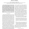 Robust control-theoretic thermal balancing for server clusters