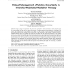 Robust Management of Motion Uncertainty in Intensity-Modulated Radiation Therapy