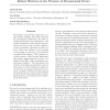 Robust mixtures in the presence of measurement errors