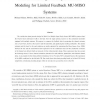 Robust precoding with Bayesian error modeling for limited feedback MU-MISO systems