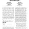 Robust recognition of physical team behaviors using spatio-temporal models