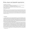 Roles, players and adaptable organizations