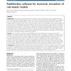 RuleMonkey: software for stochastic simulation of rule-based models