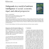 Safeguards in a world of ambient intelligence: A social, economic, legal, and ethical perspective