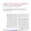 Sampling Strategies for Mining in Data-Scarce Domains