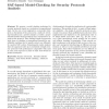 SAT-based model-checking for security protocols analysis