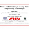 SAT-Based Model-Checking of Security Protocols Using Planning Graph Analysis