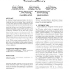Scalable and reliable communication for hardware transactional memory