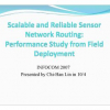 Scalable and Reliable Sensor Network Routing: Performance Study from Field Deployment