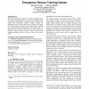 Scenario generation for emergency rescue training games