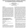 SE-CSE 2008: the first international workshop on software engineering for computational science and engineering