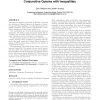 Secondary-storage confidence computation for conjunctive queries with inequalities