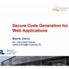 Secure Code Generation for Web Applications