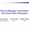 Secure Message Transmission with Small Public Discussion