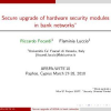 Secure Upgrade of Hardware Security Modules in Bank Networks