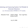 Selecting and Improving System Call Models for Anomaly Detection