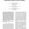 Selection of Mother Wavelet For Image Compression on Basis of Nature of Image