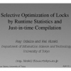 Selective Optimization of Locks by Runtime Statistics and Just-in-Time Compilation