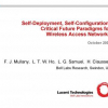 Self-deployment, Self-configuration: Critical Future Paradigms for Wireless Access Networks