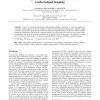 Self-organizing superimposition algorithm for conformational sampling