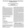 Self-referential verification of gate-level implementations of arithmetic circuits