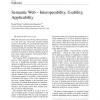 Semantic Web - Interoperability, Usability, Applicability