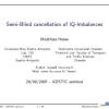 Semi-Blind Cancellation of IQ-Imbalances