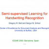 Semi-supervised Learning for Handwriting Recognition