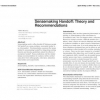 Sensemaking handoff: theory and recommendations