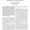 Sensor localization with deterministic accuracy guarantee