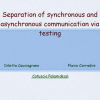 Separation of Synchronous and Asynchronous Communication Via Testing
