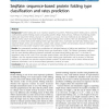 SeqRate: sequence-based protein folding type classification and rates prediction