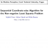 Sequential Coordinate-Wise Algorithm for the Non-negative Least Squares Problem