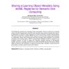 Sharing e-Learning Object Metadata Using ebXML Registries for Semantic Grid Computing