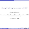 Sieving publishing communities in DBLP