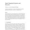 Signal-regulated systems and networks