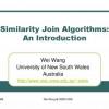 Similarity Join Algorithms: An Introduction