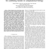 Simple but effective methods for combining kernels in computational biology