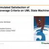Simulated Satisfaction of Coverage Criteria on UML State Machines