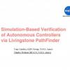 Simulation-Based Verification of Autonomous Controllers via Livingstone PathFinder
