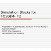Simulation blocks for TOSSIM-T2