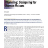 Simulations for Urban Planning: Designing for Human Values