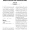 Simultaneous optimization of production planning and inspection planning for flexible manufacturing systems