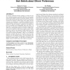 Simultaneously modeling humans' preferences and their beliefs about others' preferences