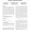 Single-hop probing asymptotics in available bandwidth estimation: sample-path analysis
