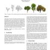 Sketch-based tree modeling using Markov random field